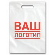 Пакеты с логотипом ПВД белый с пр.укр.р. 30см*40см, 70мкм, 1+0 (1000шт)