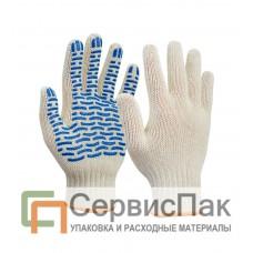 Перчатки х/б с ПВХ (волна) 5 нитей