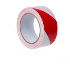 Лента сигнальная красно-белая 50*200 м