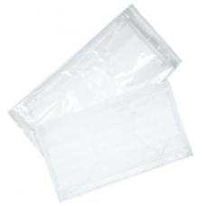 Маска бытовая трехслойная(белая) 50 шт/пакет