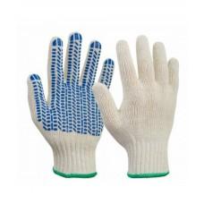 Перчатки х/б с ПВХ (протектор) 7 нитей